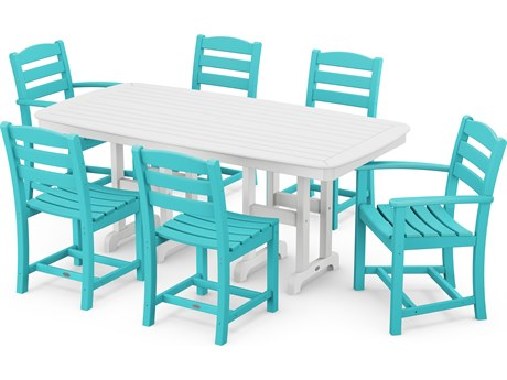 POLYWOOD® La Casa Cafe Recycled Plastic 7 Piece Dining Set PatioLiving