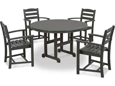 POLYWOOD® La Casa Cafe Recycled Plastic 5 Piece Dining Set