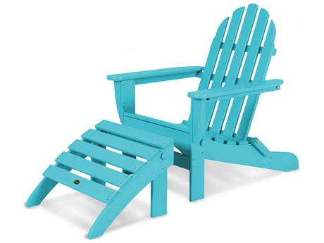 POLYWOOD® Classic Adirondack Recycled Plastic 2-Piece Set