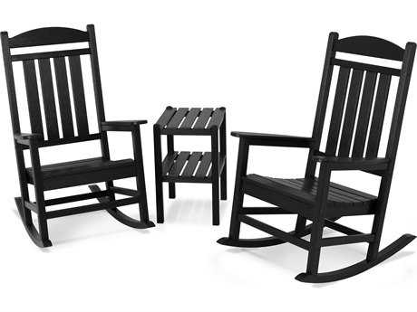 POLYWOOD® Presidential Recycled Plastic 3-Piece Rocker Set