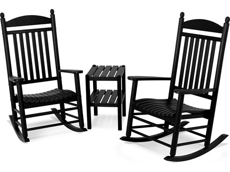 POLYWOOD® Jefferson Recycled Plastic 3-Piece Rocker Lounge Set