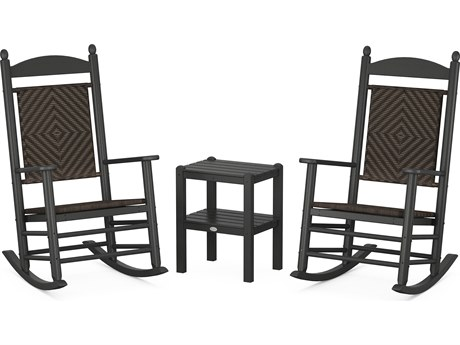 POLYWOOD® Jefferson Recycled Plastic 3-Piece Woven Rocker Set