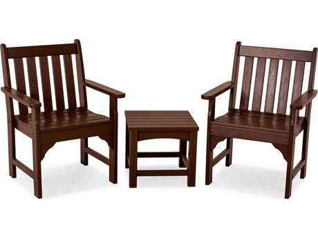 POLYWOOD® Vineyard Recycled Plastic 3-Piece Garden Chair Set
