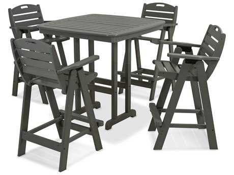 POLYWOOD® Nautical Recycled Plastic 5-Piece Bar Set