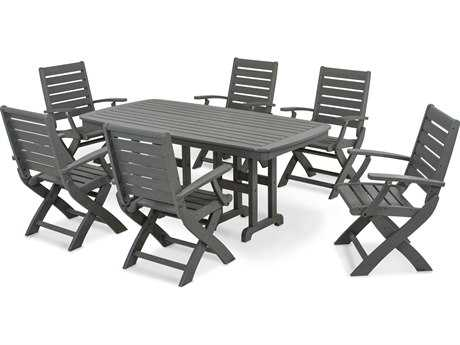 POLYWOOD® Signature Recycled Plastic 7-Piece Dining Set