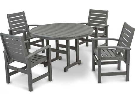 POLYWOOD® Signature Recycled Plastic 5-Piece Dining Set