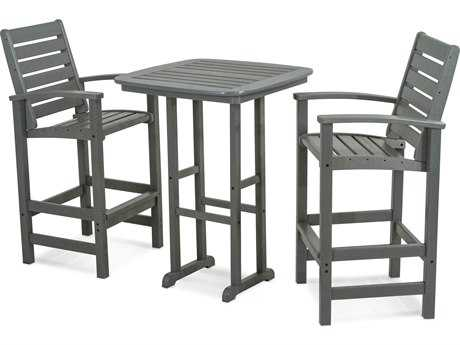 POLYWOOD® Signature Recycled Plastic 3-Piece Bar Set
