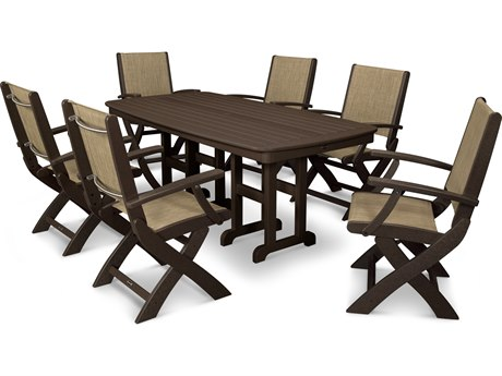 POLYWOOD® Coastal Recycled Plastic 7-Piece Dining Set