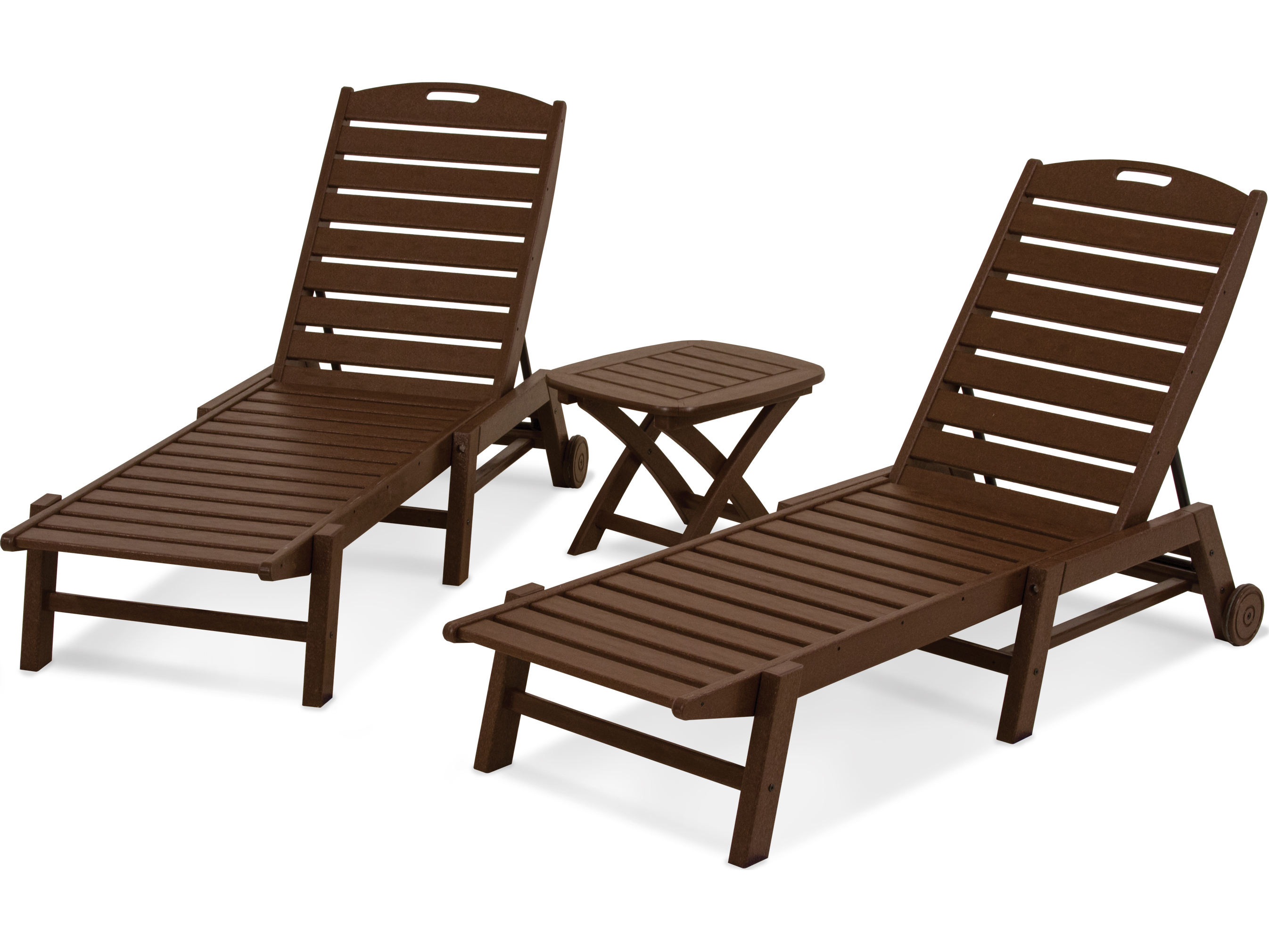 polywood nautical recycled plastic 3 piece chaise set pwpws1571. Black Bedroom Furniture Sets. Home Design Ideas
