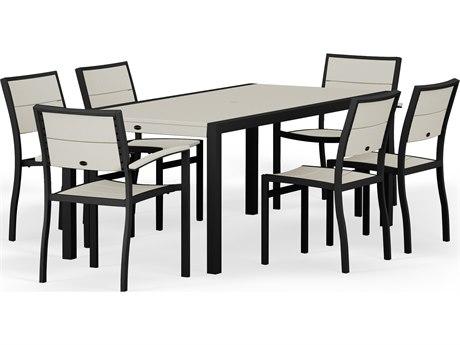 POLYWOOD® Metro Aluminum 7-Piece Dining Set