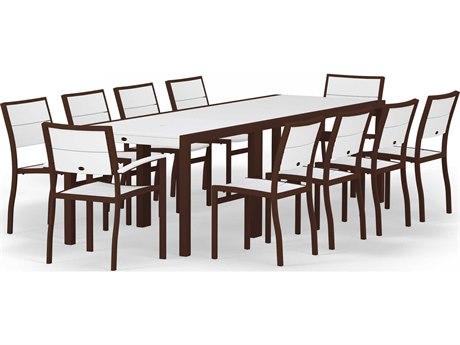 POLYWOOD® Metro Aluminum 12 Piece Dining Set