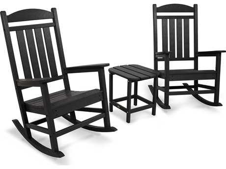 POLYWOOD® Presidential Recycled Plastic Rocker 3-Piece Set