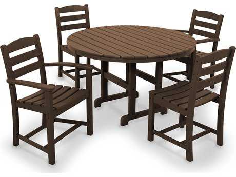 POLYWOOD® La Casa Caf Recycled Plastic 5-Piece Dining Set