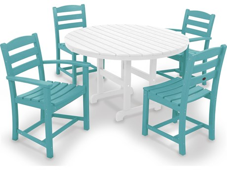 POLYWOOD® La Casa Caf Recycled Plastic 5-Piece Dining Set PatioLiving