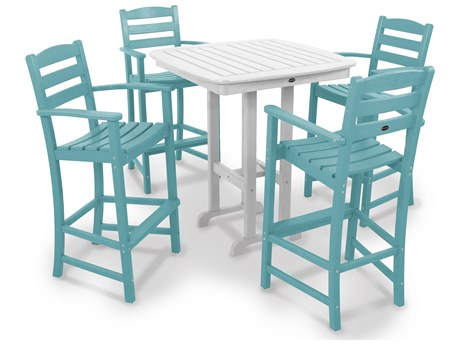 POLYWOOD® La Casa Cafe Recycled Plastic 5-Piece Bar Set