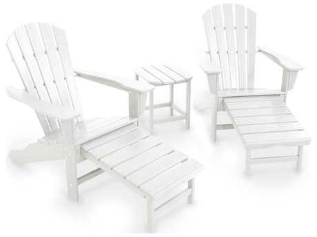 POLYWOOD® South Beach Recycled Plastic Ultimate Adirondack 3-Piece Set