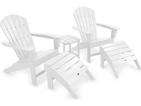 POLYWOOD® South Beach Recycled Plastic Adirondack 5-Piece Set
