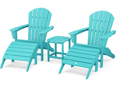 POLYWOOD® South Beach Recycled Plastic 5 Piece Adirondack Lounge Set