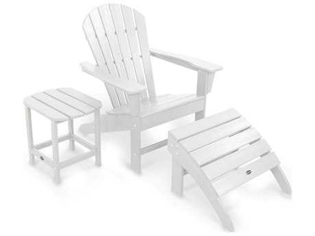 POLYWOOD® South Beach Recycled Plastic Adirondack 3-Piece Set