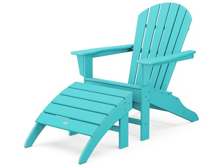 POLYWOOD® South Beach Recycled Plastic 2 Piece Adirondack Lounge Set