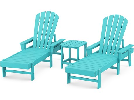 POLYWOOD® South Beach Recycled Plastic Chaise 3-Piece Set