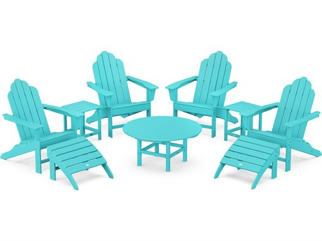 POLYWOOD® Long Island Recycled Plastic Adirondack 9-Piece Conversation Group
