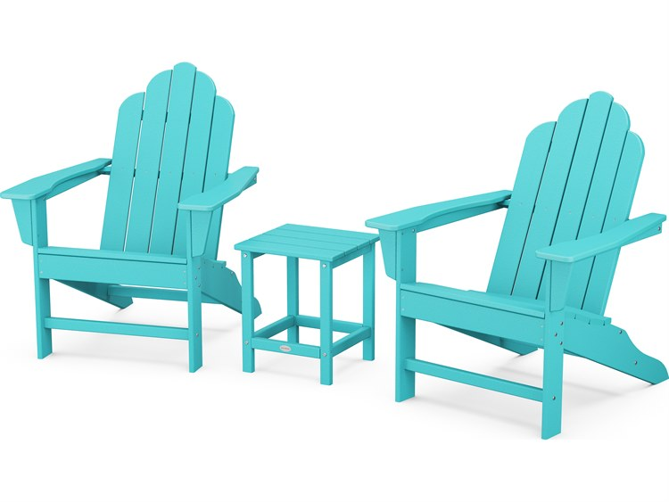 POLYWOOD® Long Island Recycled Plastic Adirondack 3-Piece Set PatioLiving