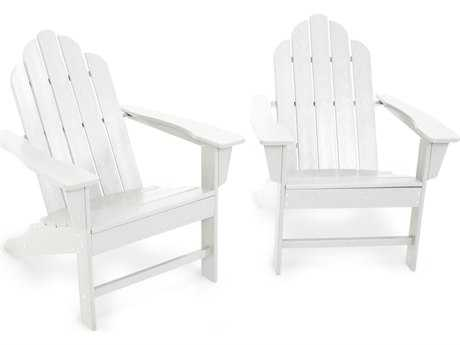 POLYWOOD® Long Island Recycled Plastic Adirondack 2-Piece Set