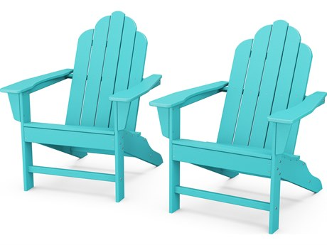 POLYWOOD® Long Island Recycled Plastic Adirondack 2-Piece Set PatioLiving
