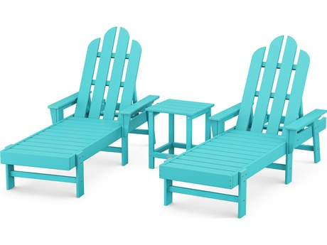 POLYWOOD® Long Island Recycled Plastic Chaise 3-Piece Set