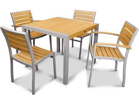 POLYWOOD Euro Recycled Plastic Dining Set