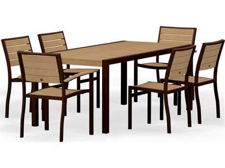 POLYWOOD® Euro Plastique 7-Piece Dining Set