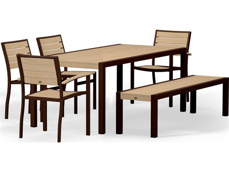 POLYWOOD® Euro Recycled Plastic 6-Piece Dining Set