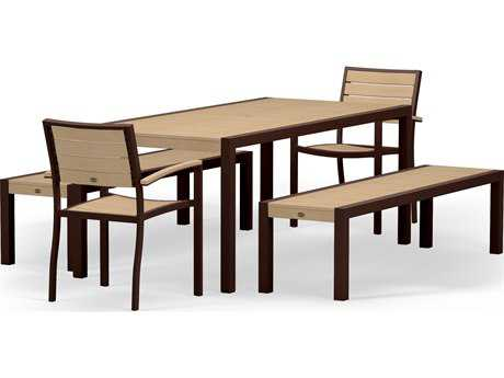 POLYWOOD® Euro Plastique 5-Piece Dining Set