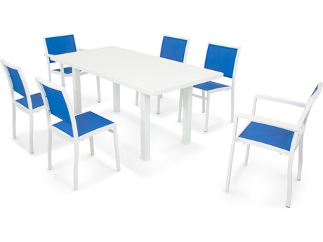 POLYWOOD® Bayline Aluminum 7-Piece Dining Set