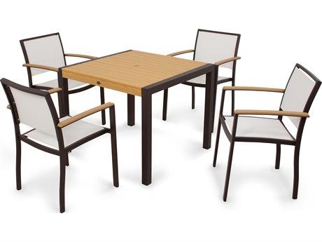 POLYWOOD® Bayline Aluminum 5-Piece Dining Set