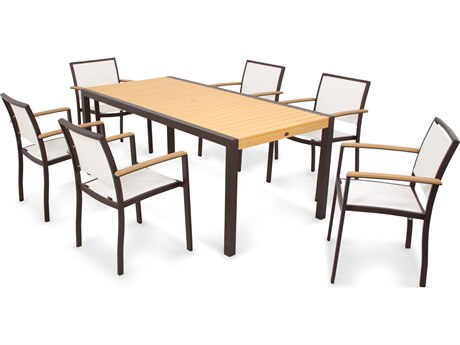 POLYWOOD® Bayline Aluminum 7-Piece Dining Set