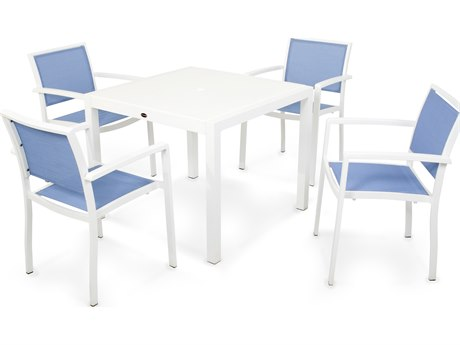 POLYWOOD® Bayline Aluminum 5-Piece Dining Set