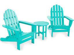 Classic Adirondack Recycled Plastic Folding Set