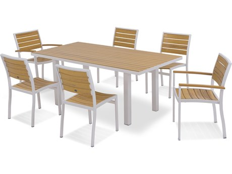 POLYWOOD® Euro Plastique Recycled Plastic 7-Piece Dining Set