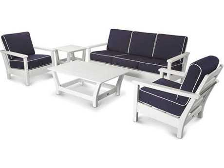 POLYWOOD® Harbour Recycled Plastic 5-Piece Conversation Set