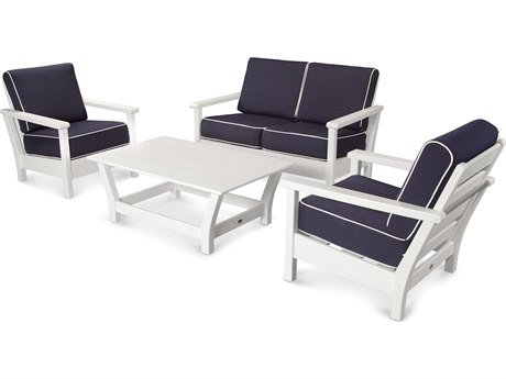 POLYWOOD® Harbour Recycled Plastic 4-Piece Lounge Set