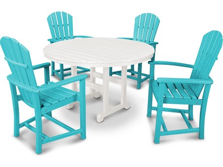 POLYWOOD® Palm Coast Recycled Plastic 5 Piece Dining Set