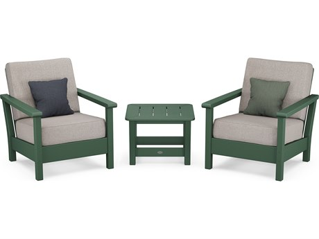 POLYWOOD® Harbour Recycled Plastic 3-Piece Deep Seating Lounge Set