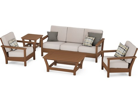 POLYWOOD® Harbour Recycled Plastic 5-Piece Lounge Set