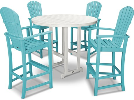 POLYWOOD® Palm Coast Recycled Plastic 5 Piece Bar Set