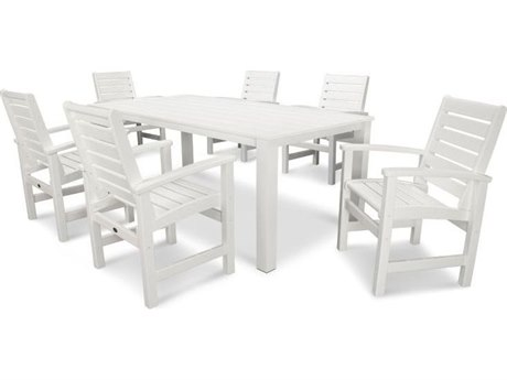 POLYWOOD® Signature Recycled Plastic Harvest 7 Piece Dining Set