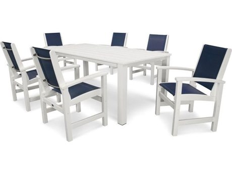 POLYWOOD® Coastal Recycled Plastic Dining Set