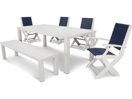 POLYWOOD® Coastal Recycled Plastic 6-Piece Harvest Dining Set