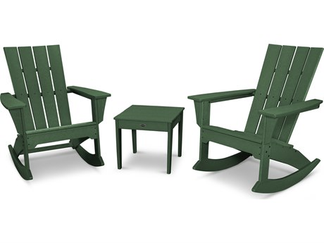 POLYWOOD® Quattro Recycled Plastic 3 Piece Rocker Set